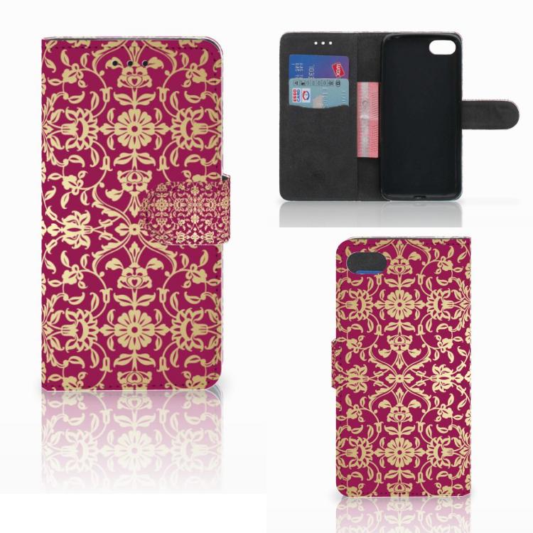 Wallet Case Huawei Y5 2018 Barok Pink