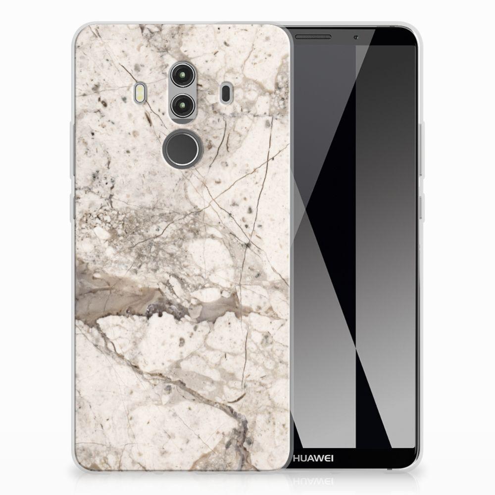 Huawei Mate 10 Pro TPU Siliconen Hoesje Marmer Beige