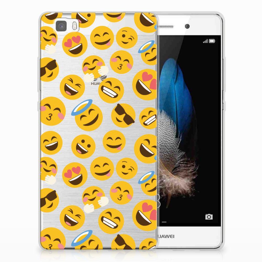 Huawei Ascend P8 Lite TPU Hoesje Design Emoji