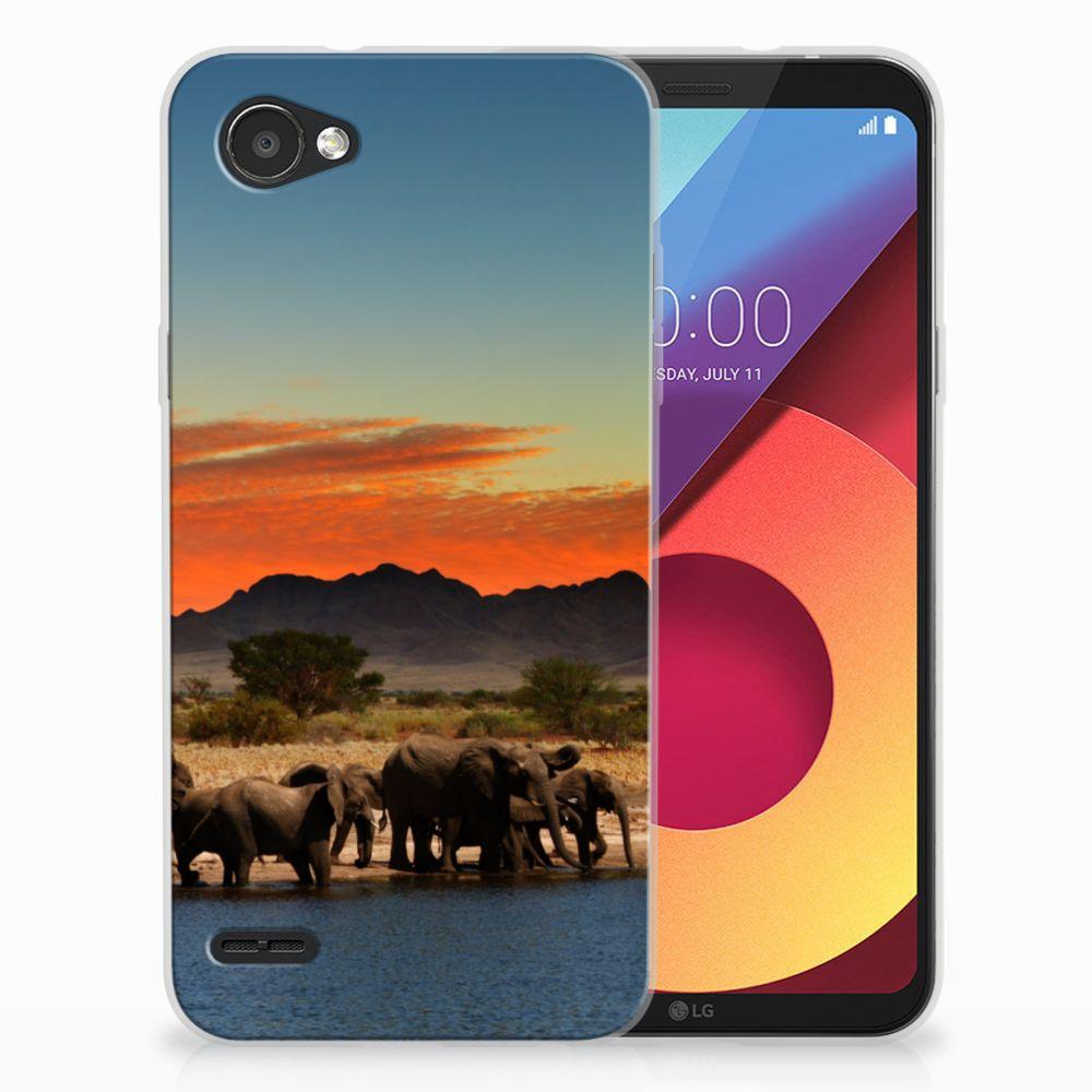 LG Q6 | LG Q6 Plus TPU Hoesje Design Olifanten