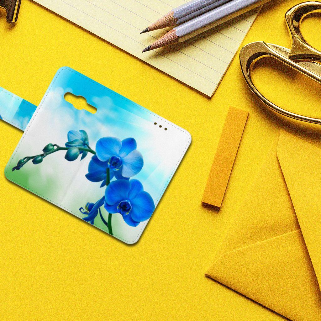 Samsung Galaxy Trend 2 Boekhoesje Design Orchidee Blauw
