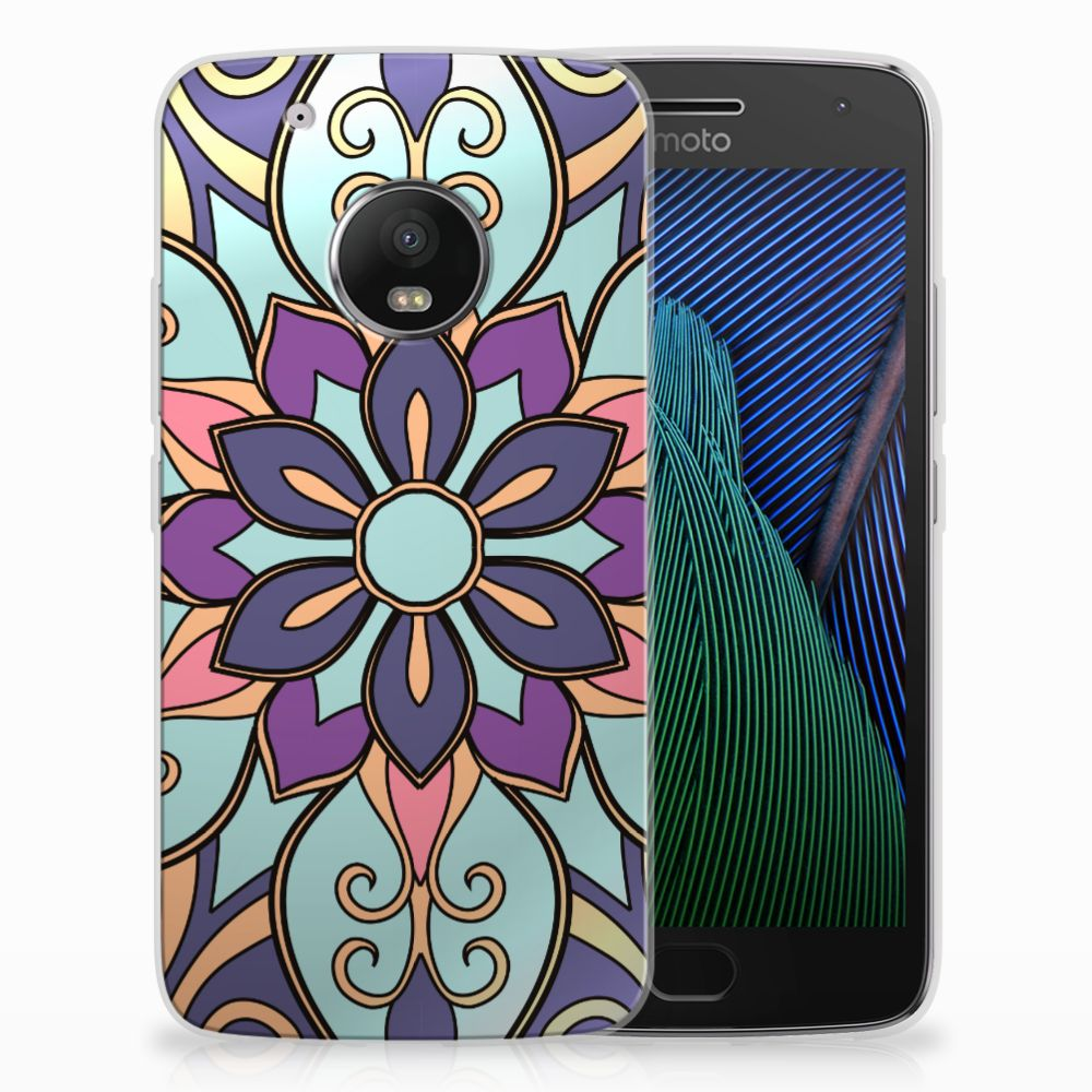 Motorola Moto G5 Plus TPU Hoesje Design Purple Flower
