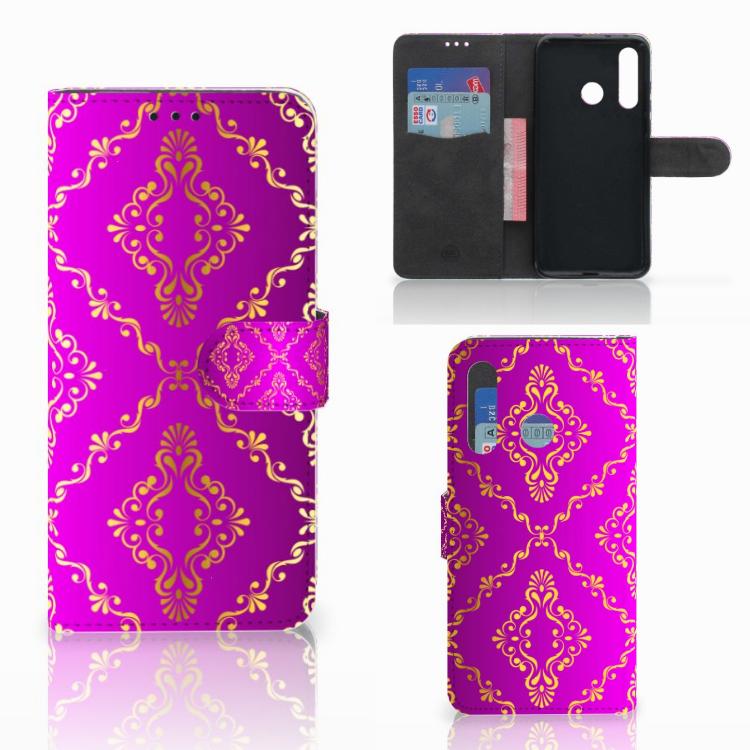 Wallet Case Huawei Nova 4 Barok Roze