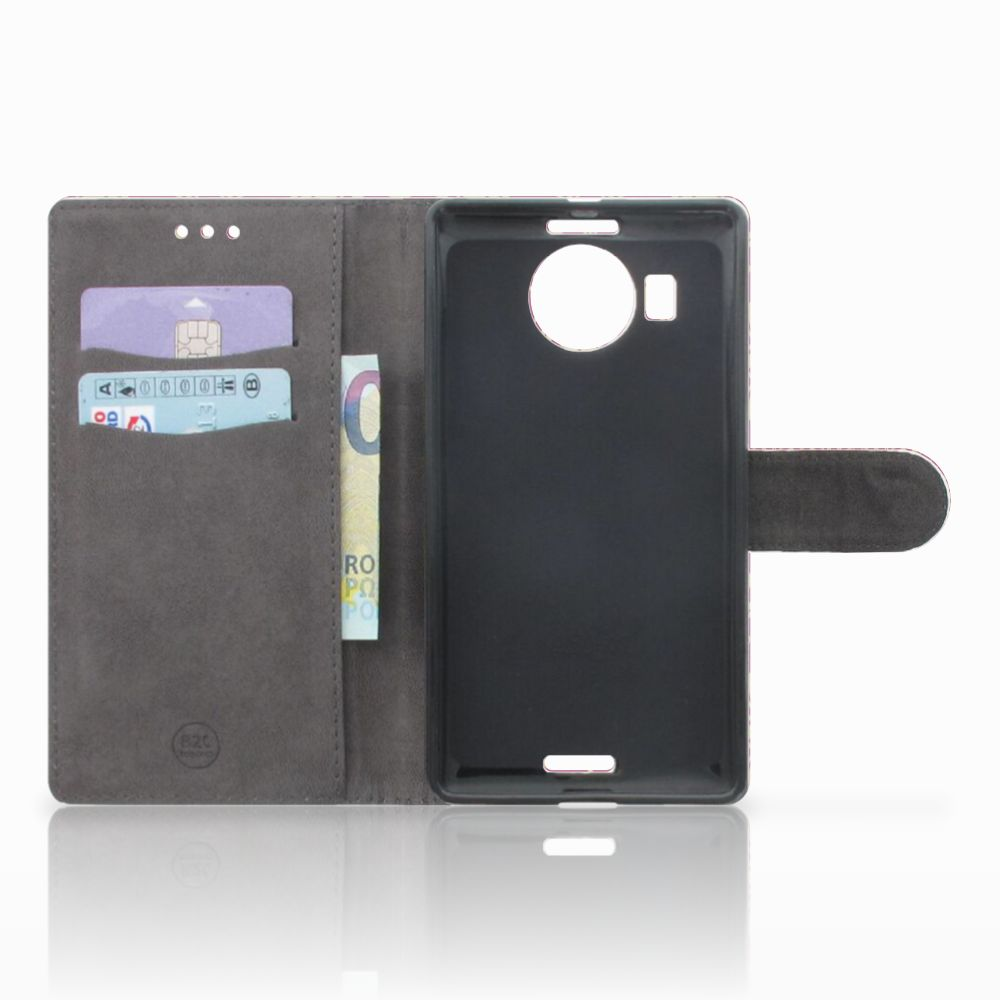 Wallet Case Microsoft Lumia 950 XL Barok Pink