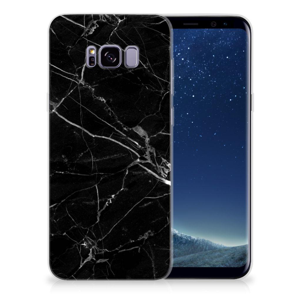 Samsung Galaxy S8 Plus Uniek TPU Hoesje Marmer Zwart