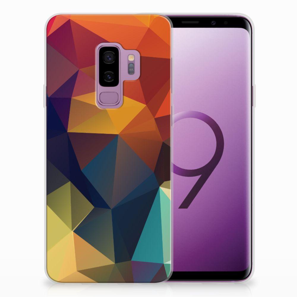 Samsung Galaxy S9 Plus TPU Hoesje Design Polygon Color