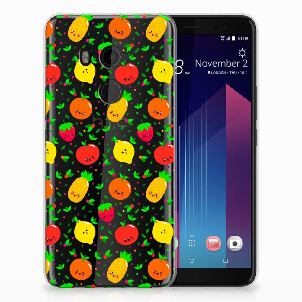 HTC U11 Plus Siliconen Case Fruits
