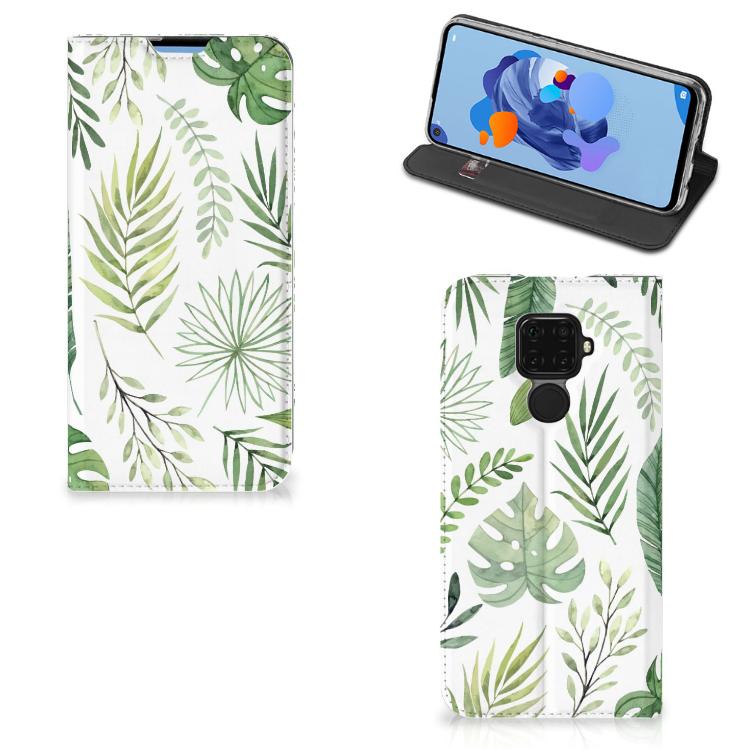 Huawei Mate 30 Lite Smart Cover Leaves