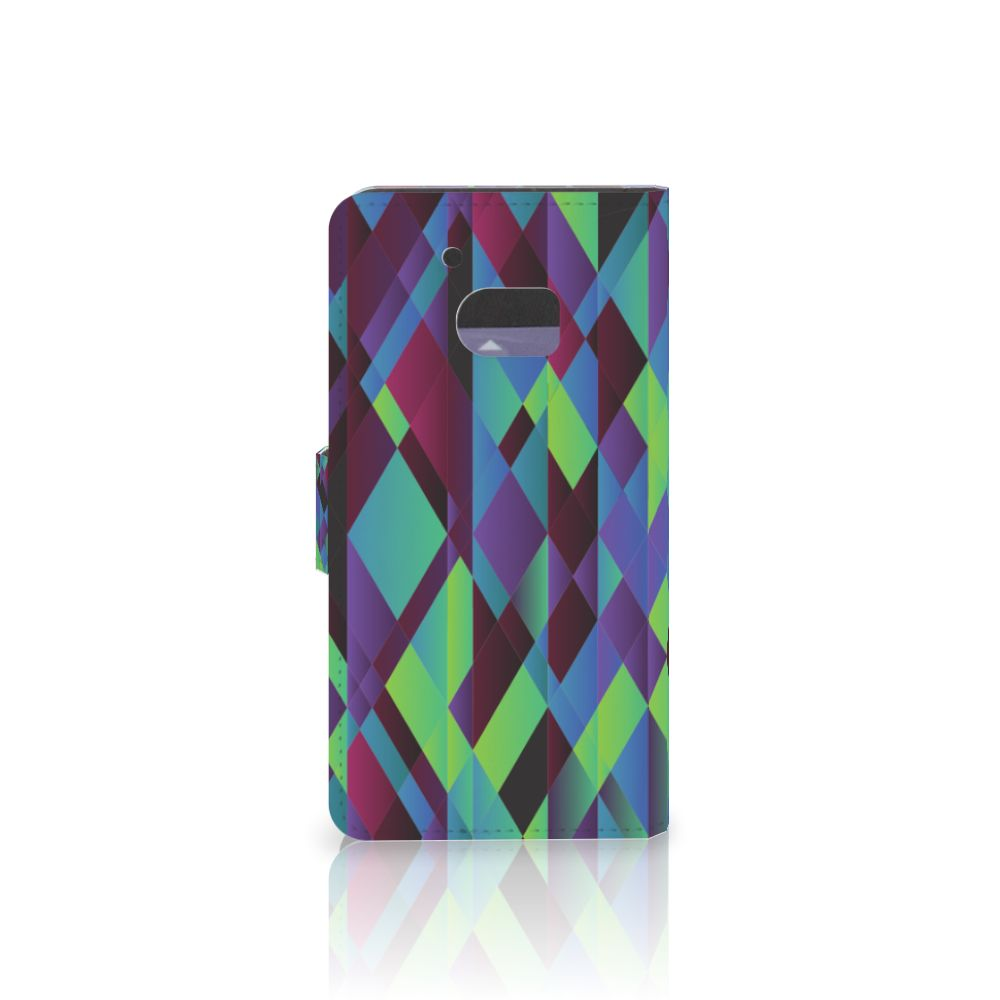 HTC 10 Bookcase Abstract Green Blue