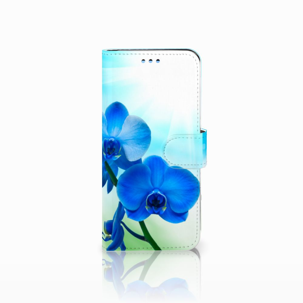 Samsung Galaxy S9 Boekhoesje Design Orchidee Blauw