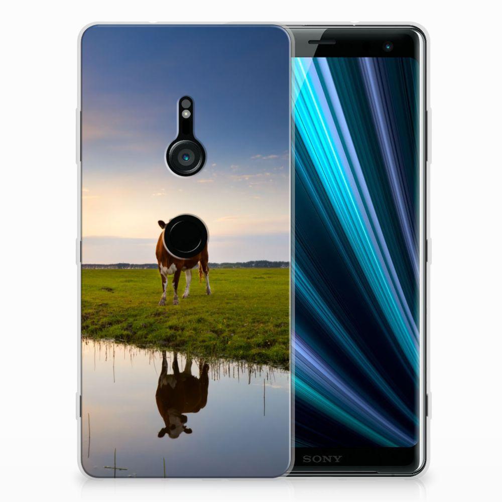 Sony Xperia XZ3 TPU Hoesje Design Koe