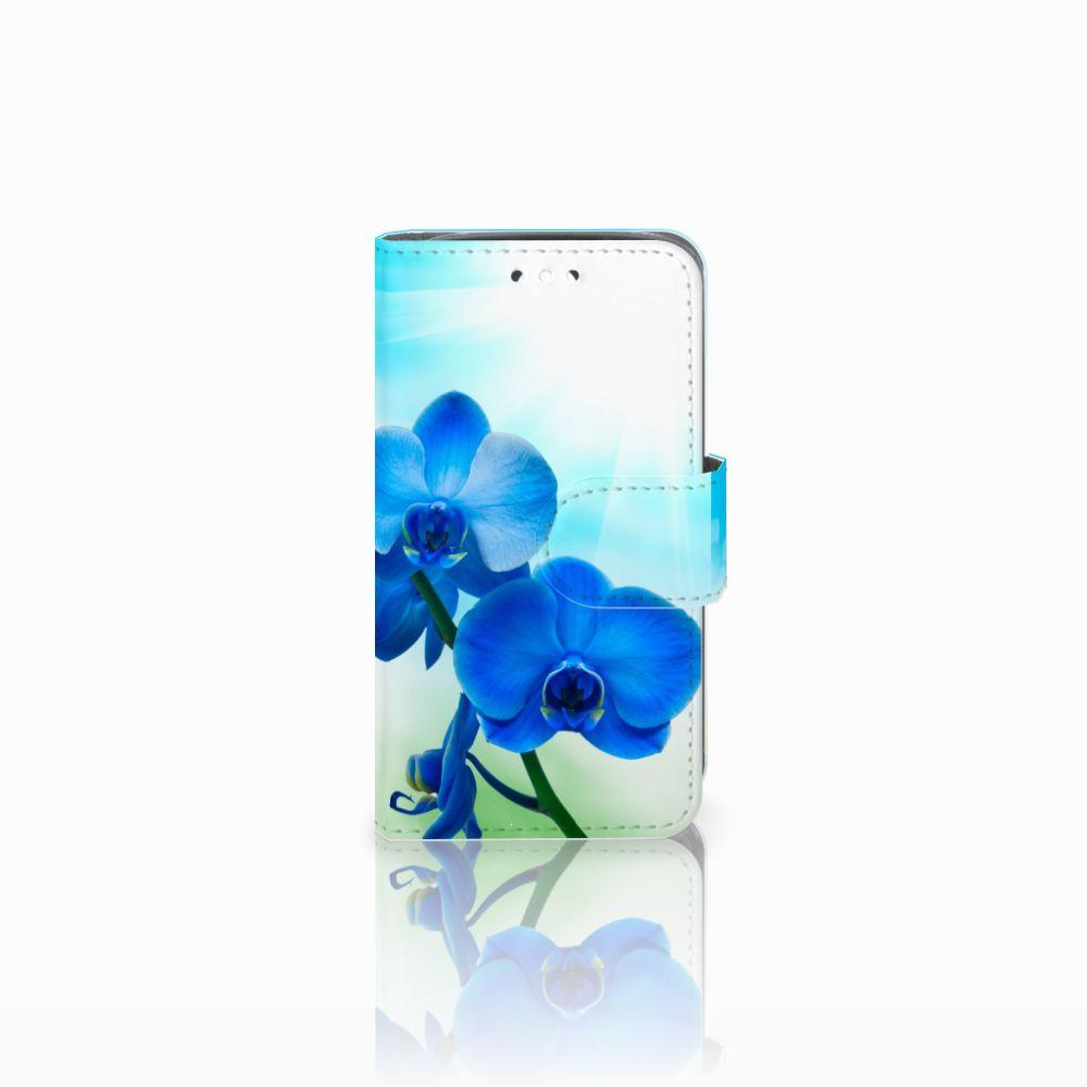 Huawei Y360 Boekhoesje Design Orchidee Blauw