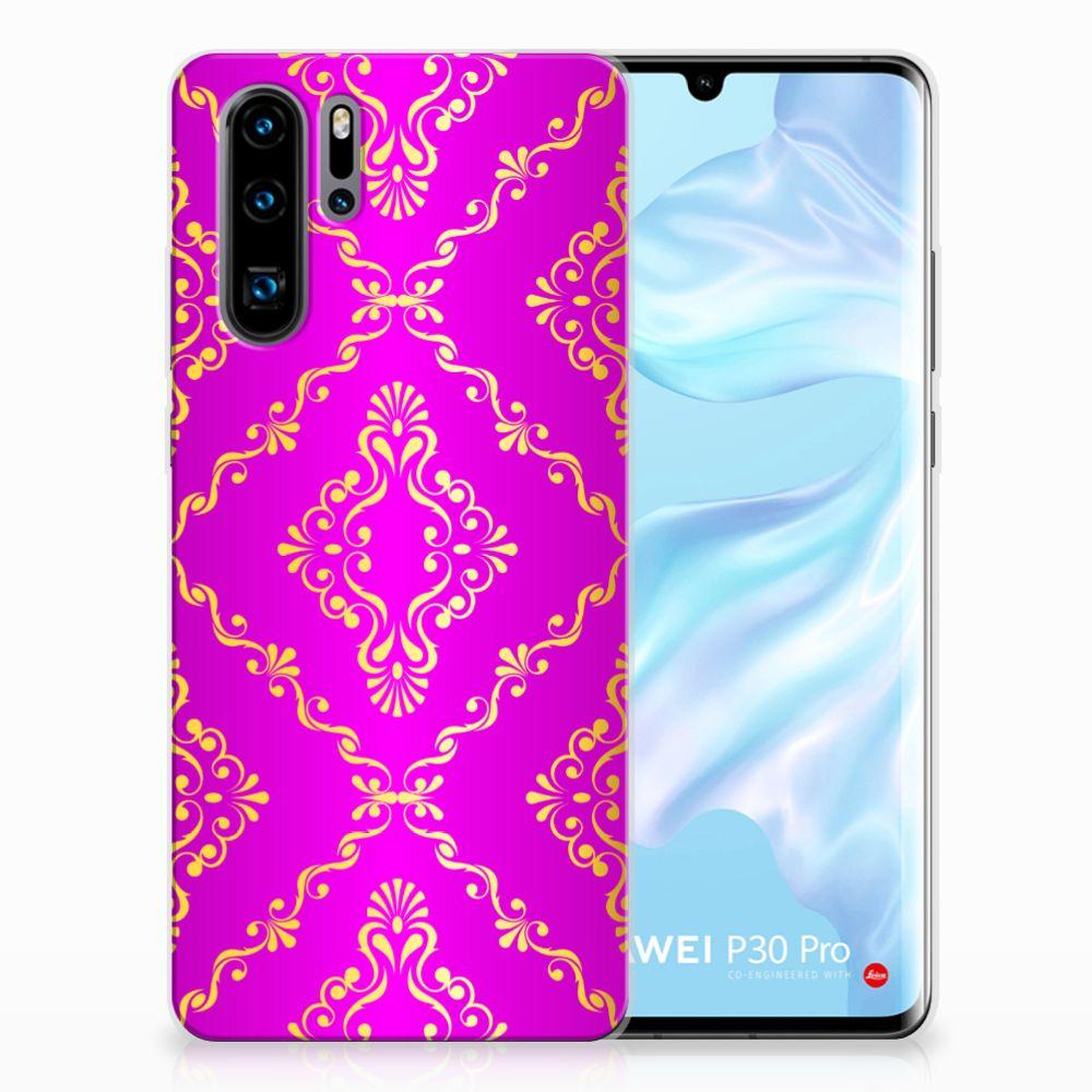 Siliconen Hoesje Huawei P30 Pro Barok Roze