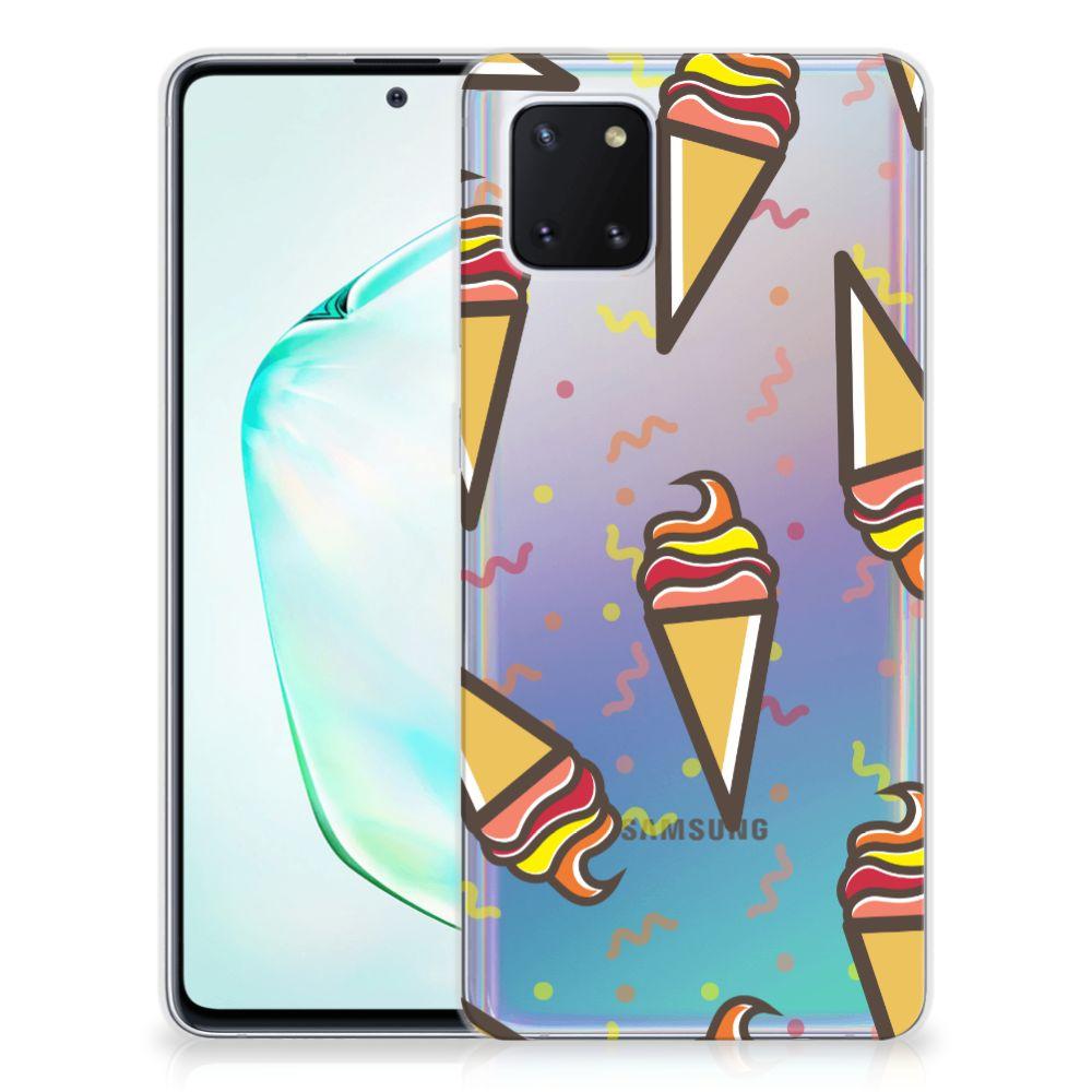 Samsung Galaxy Note 10 Lite Siliconen Case Icecream