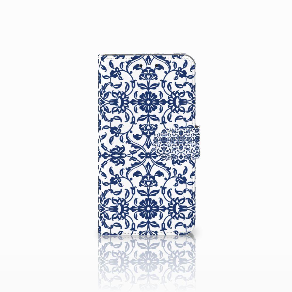 Motorola Moto G4 | G4 Plus Uniek Boekhoesje Flower Blue