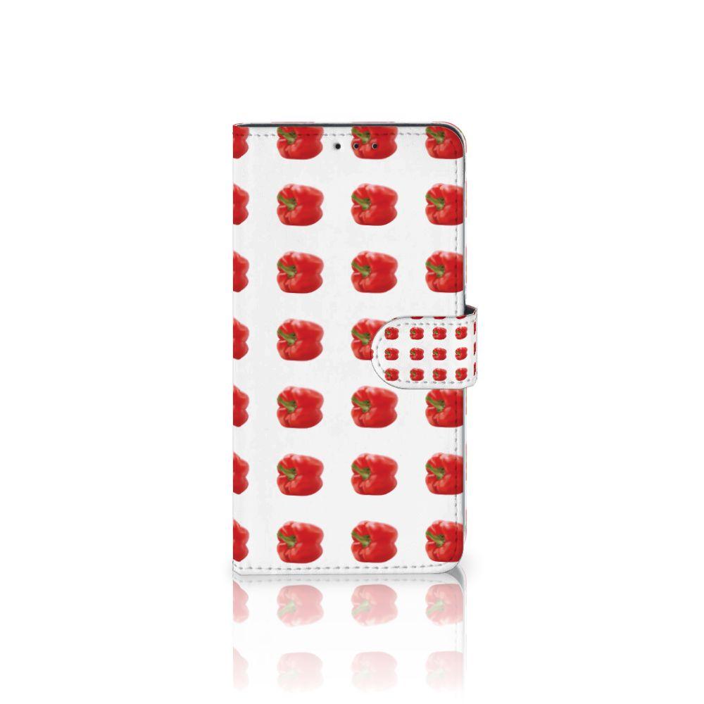 Samsung Galaxy A8 Plus (2018) Boekhoesje Design Paprika Red