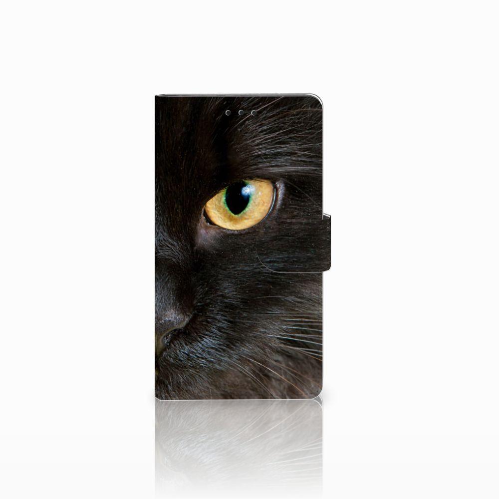 Sony Xperia L1 Uniek Boekhoesje Zwarte Kat