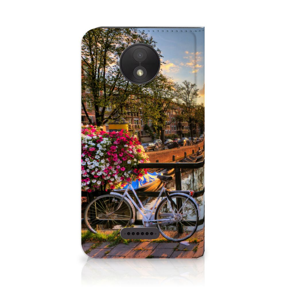 Motorola Moto C Plus Uniek Standcase Hoesje Amsterdamse Grachten