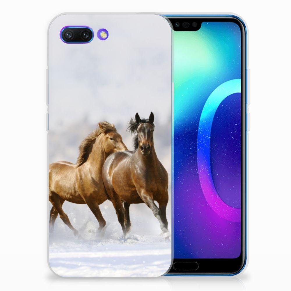 Huawei Honor 10 Uniek TPU Hoesje Paarden