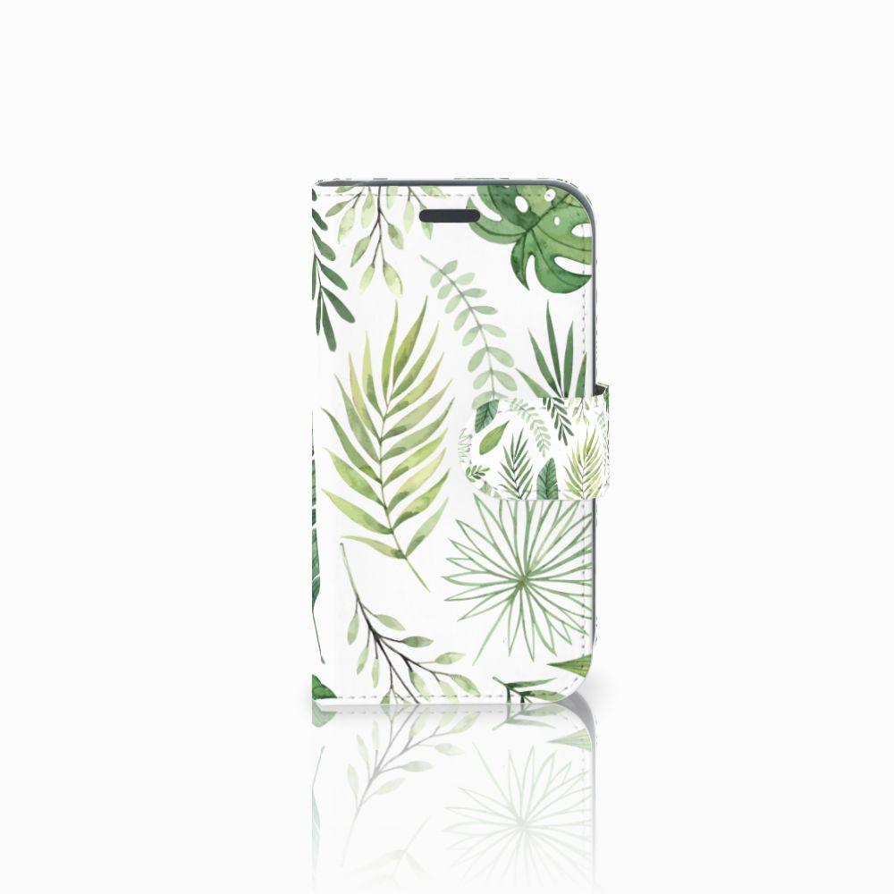 Samsung Galaxy J1 2016 Uniek Boekhoesje Leaves