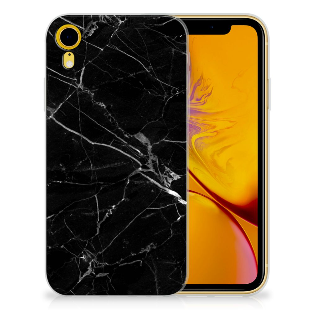 Apple iPhone Xr TPU Hoesje Marmer Zwart