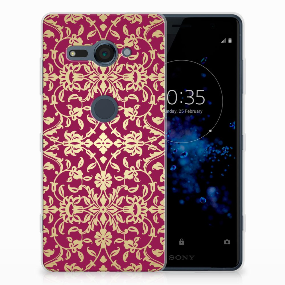 Siliconen Hoesje Sony Xperia XZ2 Compact Barok Pink