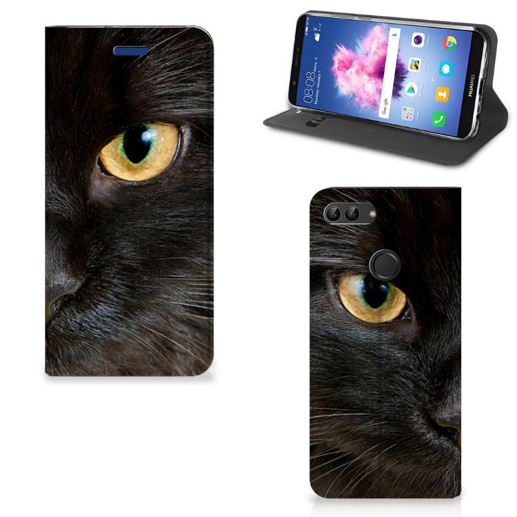 Huawei P Smart Hoesje maken Zwarte Kat