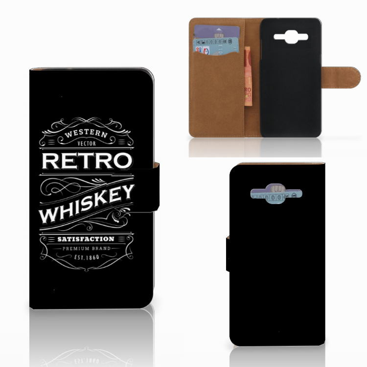 Samsung Galaxy J2 2016 Book Cover Whiskey