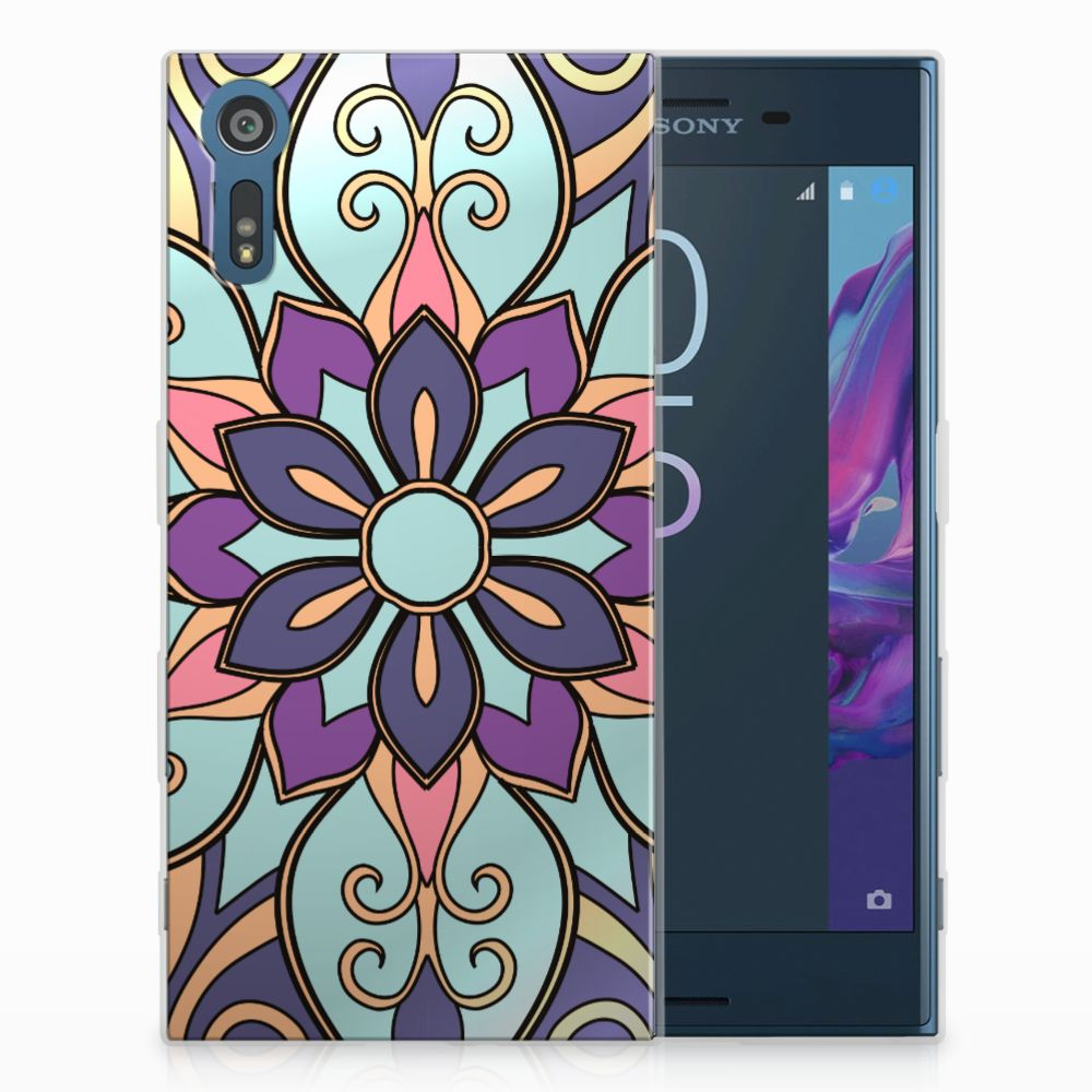 Sony Xperia XZs | XZ TPU Hoesje Design Purple Flower