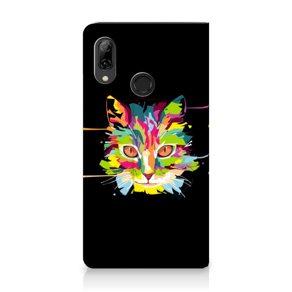 Huawei P Smart (2019) Uniek Standcase Hoesje Cat Color
