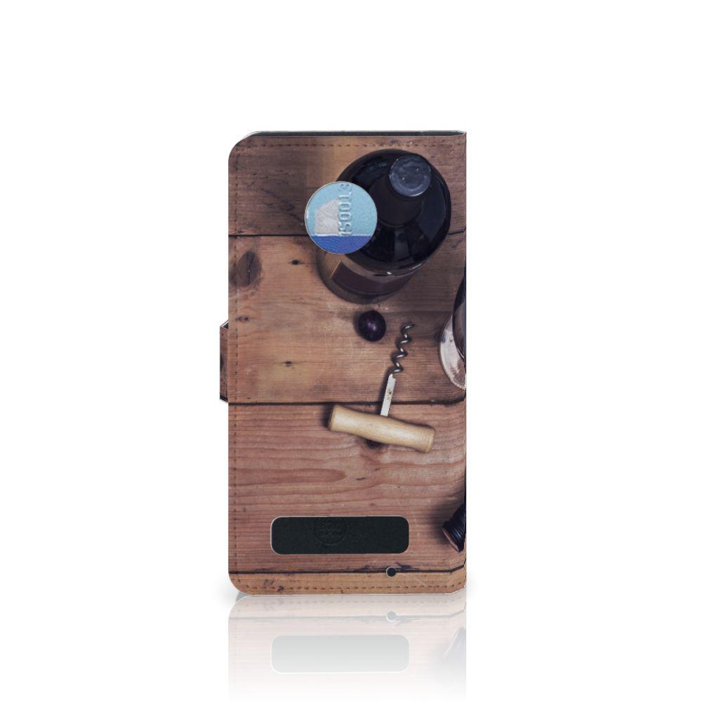 Motorola Moto Z Play Book Cover Wijn