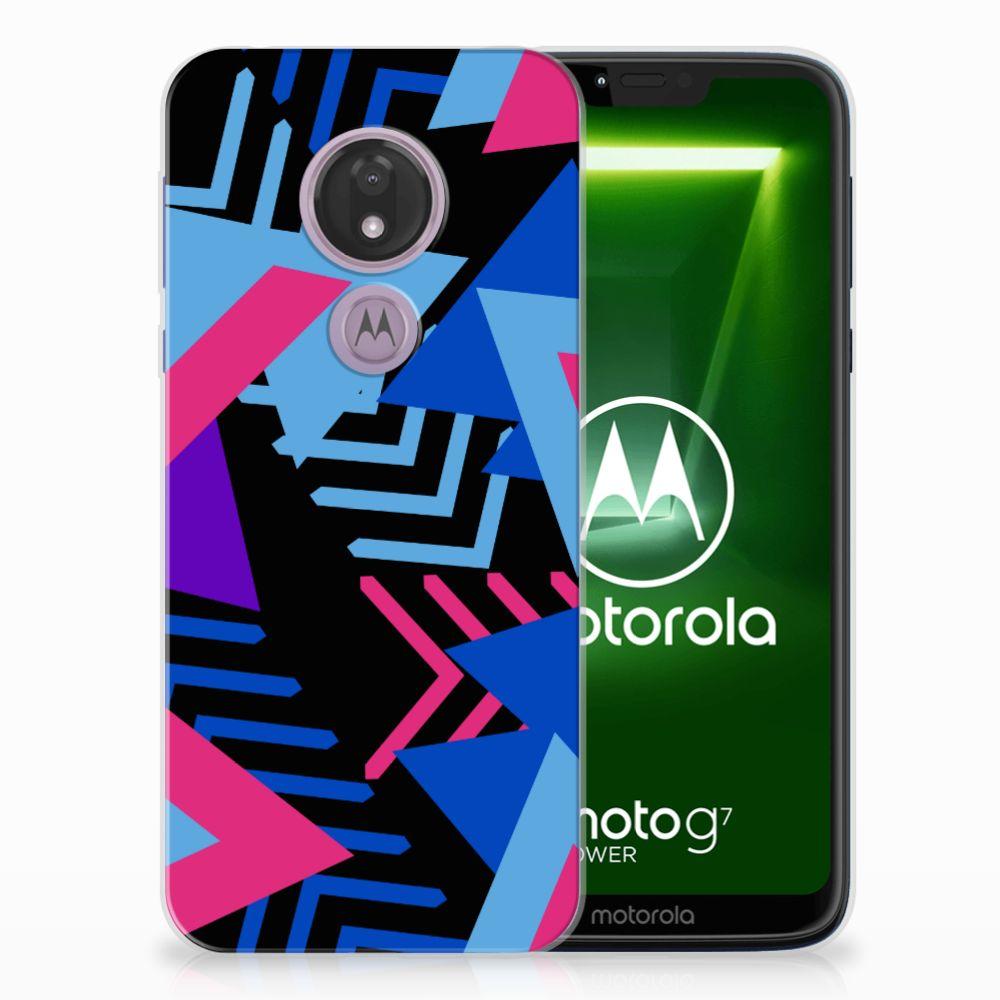 Motorola Moto G7 Power TPU Hoesje Funky Triangle