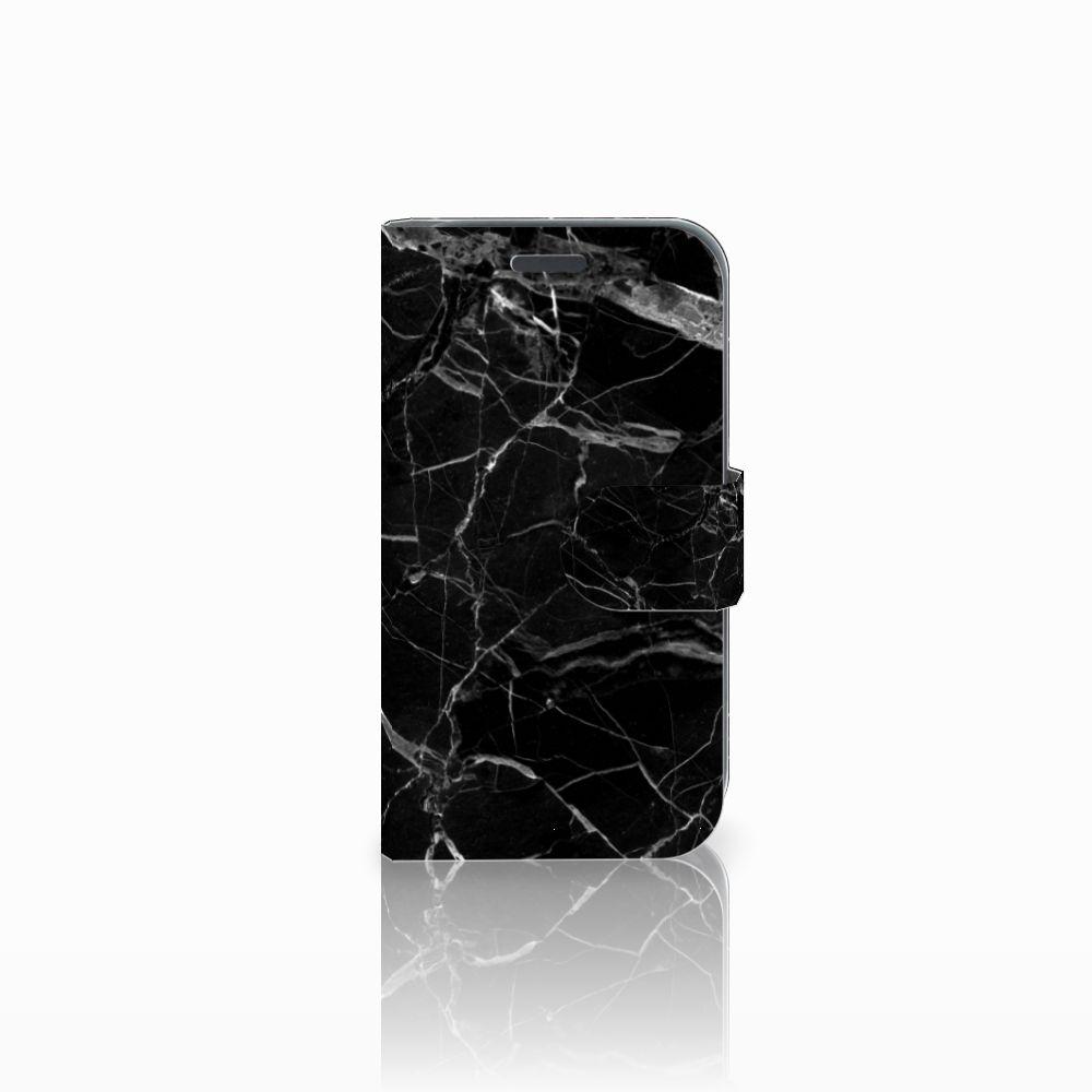 Samsung Galaxy J1 2016 Uniek Boekhoesje Marmer Zwart