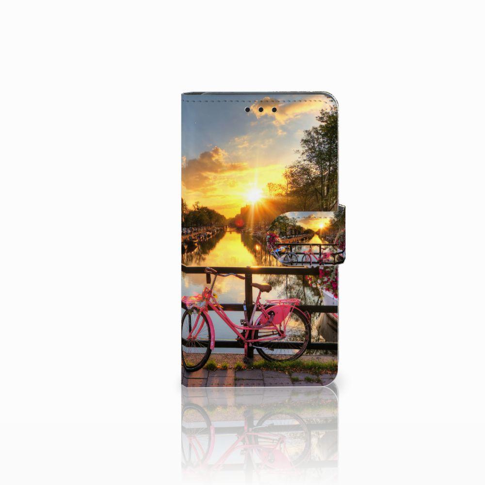 Huawei Y6 Pro 2017 Uniek Boekhoesje Amsterdamse Grachten