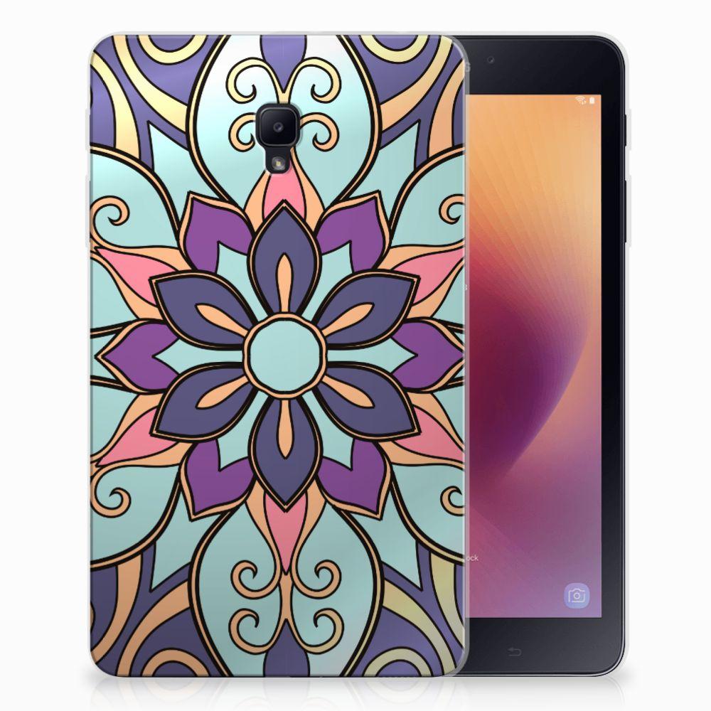 Samsung Galaxy Tab A 8.0 (2017) Tablethoesje Design Purple Flower
