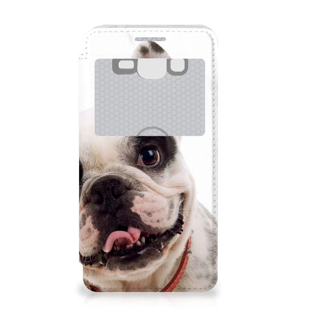 Samsung Galaxy Grand Prime Telefoonhoesje met Pasjes Franse Bulldog