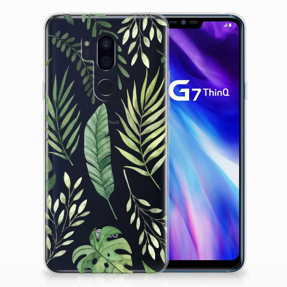 LG G7 Thinq Uniek TPU Hoesje Leaves