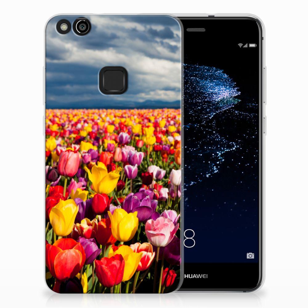 Huawei P10 Lite Uniek TPU Hoesje Tulpen