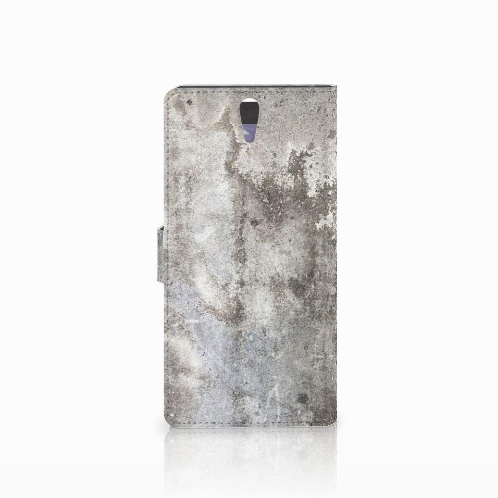 Sony Xperia C5 Ultra Bookcase Beton Print