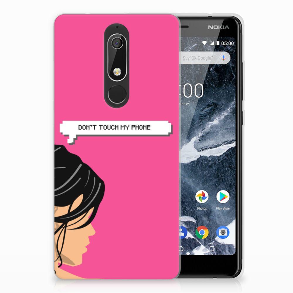 Nokia 5.1 (2018) Uniek TPU Hoesje Woman DTMP