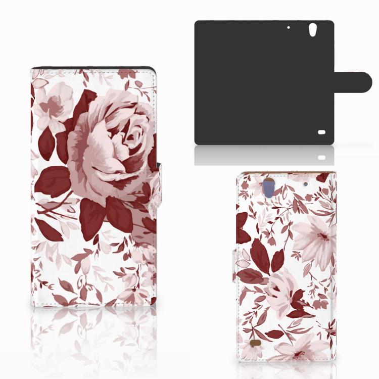 Hoesje Sony Xperia C4 Watercolor Flowers