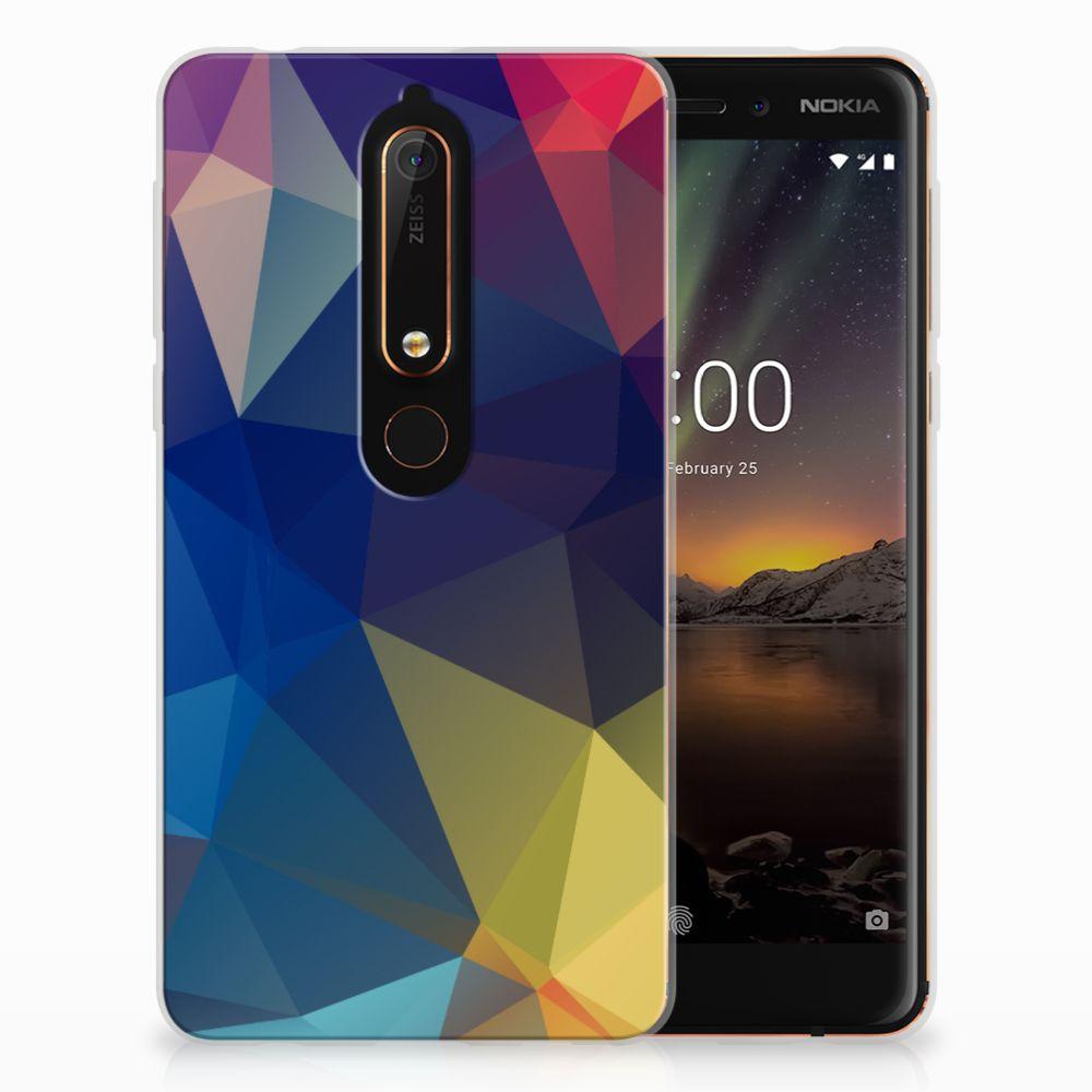 Nokia 6 (2018) TPU Hoesje Polygon Dark