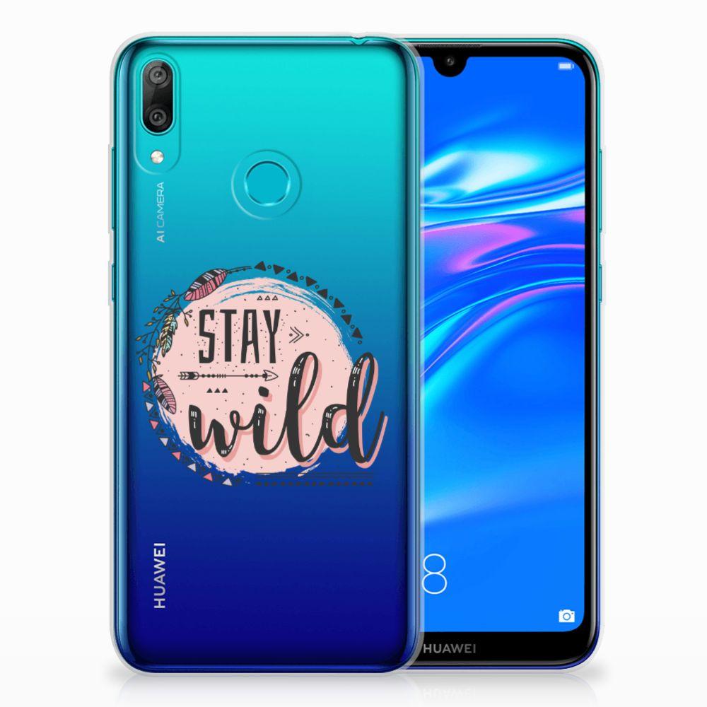 Huawei Y7 2019 Telefoonhoesje met Naam Boho Stay Wild