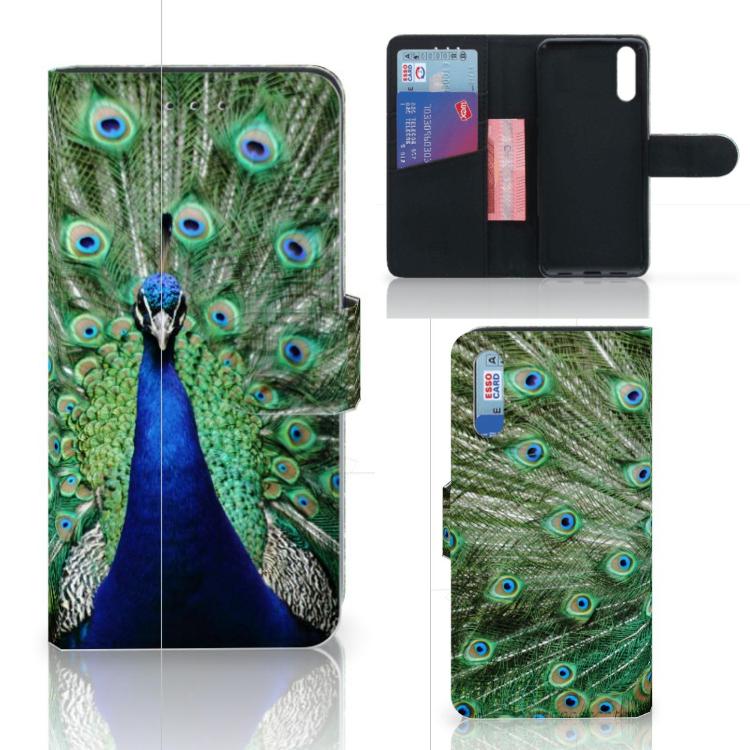 Huawei P20 Telefoonhoesje met Pasjes Pauw