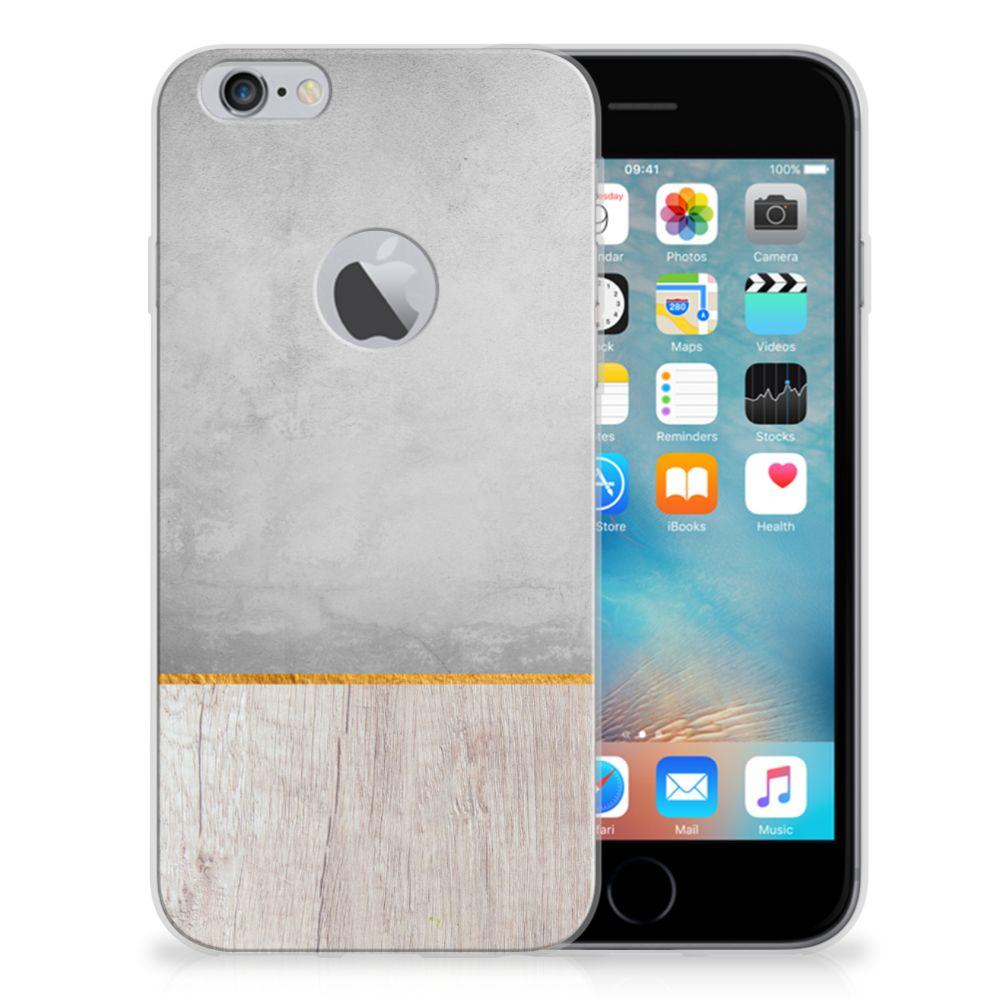 Apple iPhone 6 Plus   6s Plus Bumper Hoesje Wood Concrete