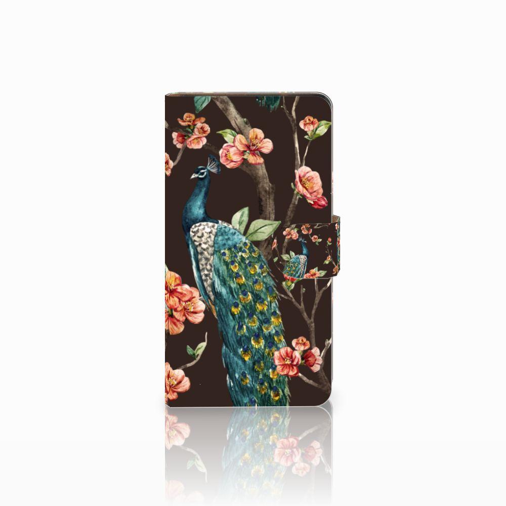 Huawei Ascend G700 Boekhoesje Design Pauw met Bloemen
