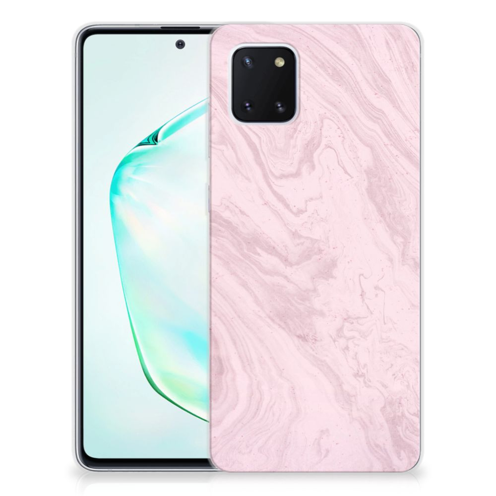 Samsung Galaxy Note 10 Lite TPU Siliconen Hoesje Marble Pink