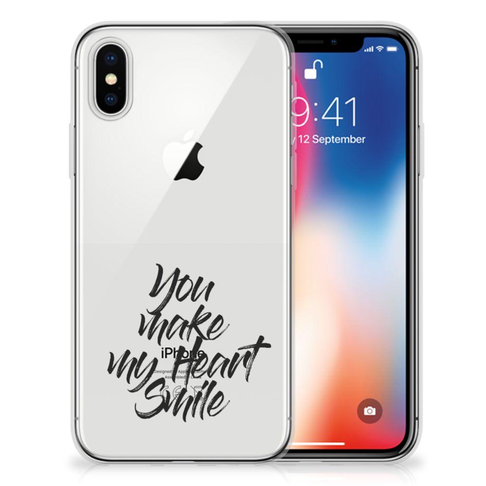 Apple iPhone X | Xs TPU Hoesje Design Heart Smile