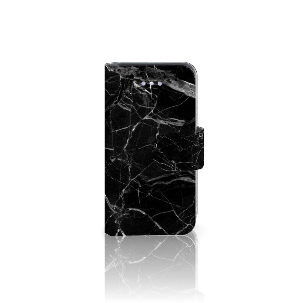 Apple iPhone 4 | 4S Uniek Boekhoesje Marmer Zwart