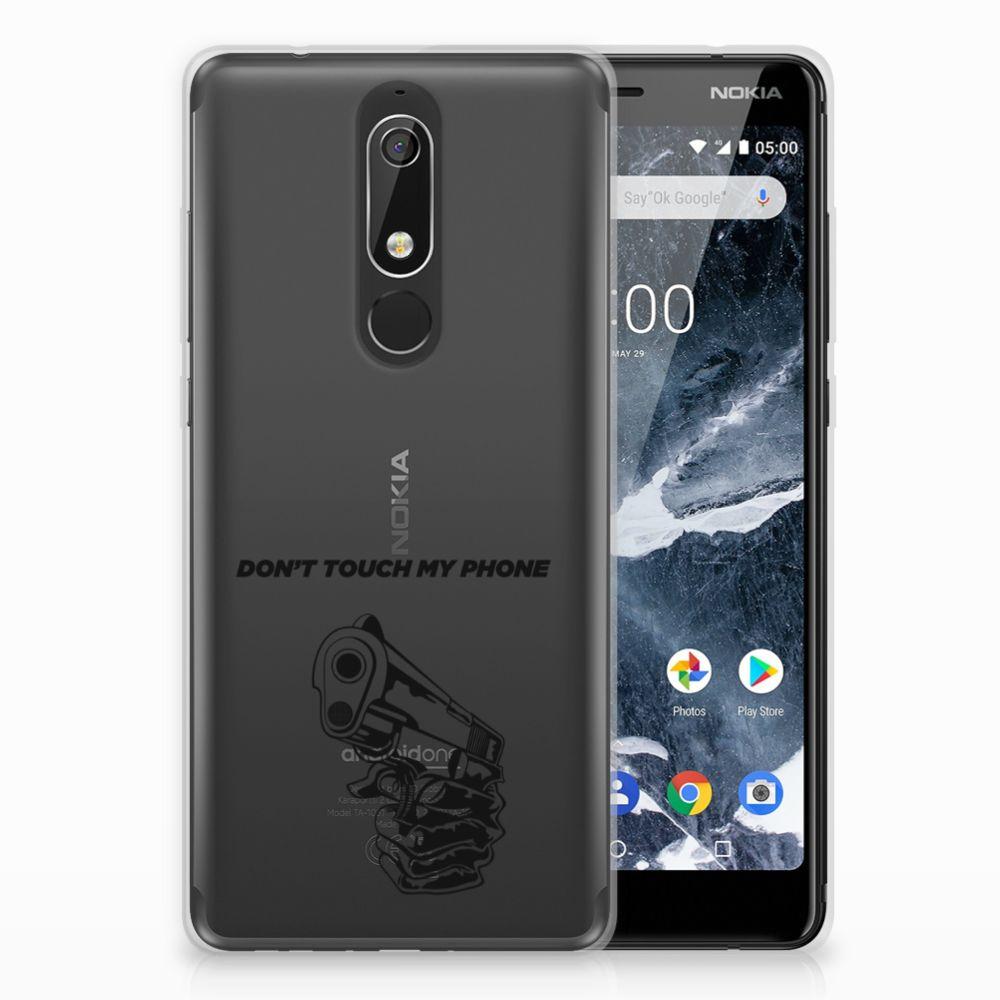 Nokia 5.1 (2018) Uniek TPU Hoesje Gun DTMP
